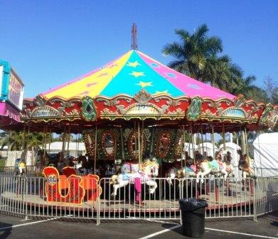 Carnival Rides : 36' - 3 abreast Carousel